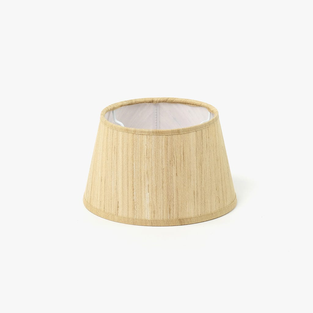 Abatjour Drum Seda Bege D: 20cm