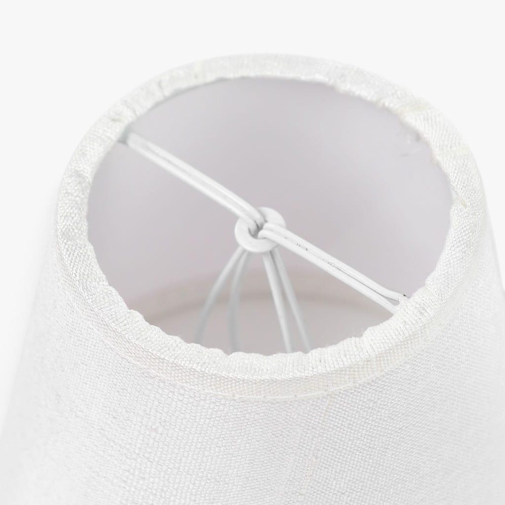 Abatjour Empire Seda Branco D: 12cm