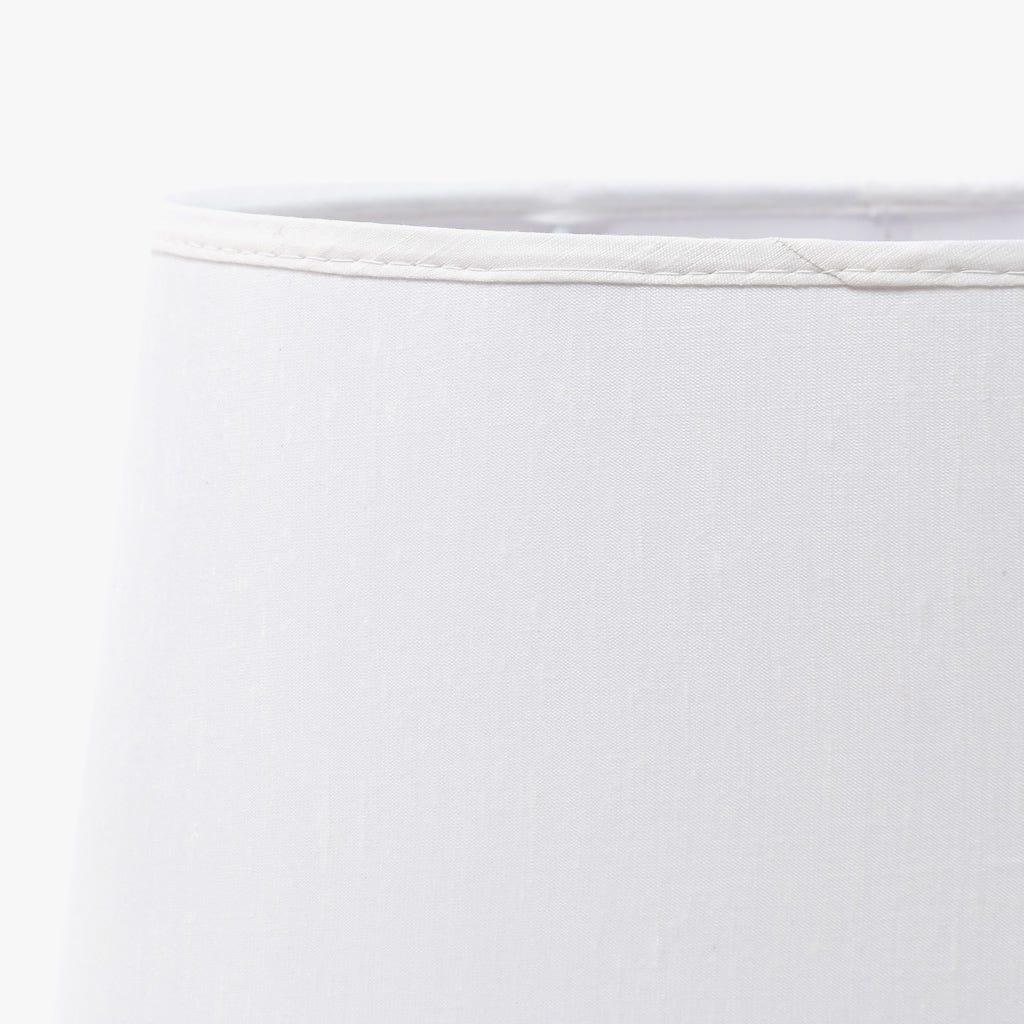 Abatjour Oval Seda Branco D: 33cm