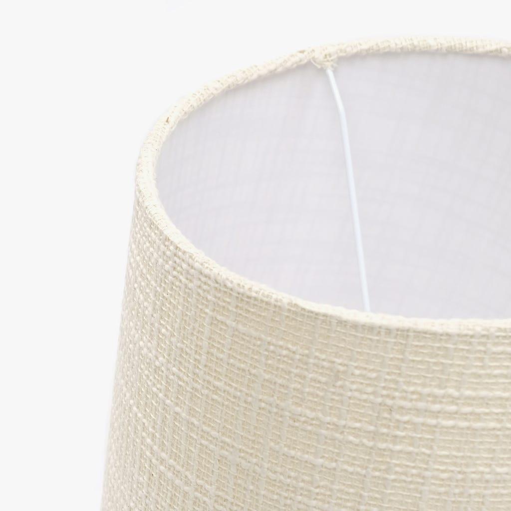Abatjour Long Drum Algodão Creme D: 30cm
