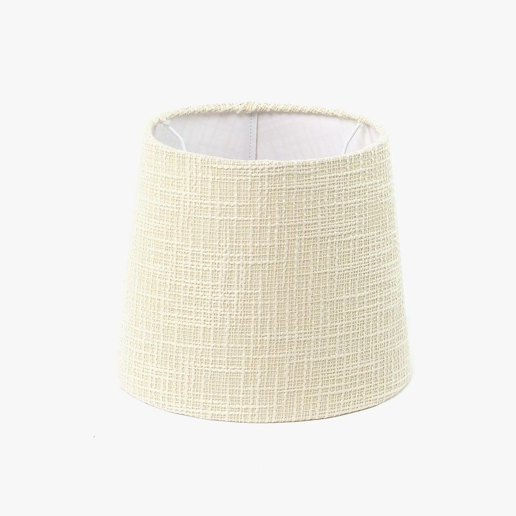 Abatjour Long Drum Algodão Creme D: 35cm