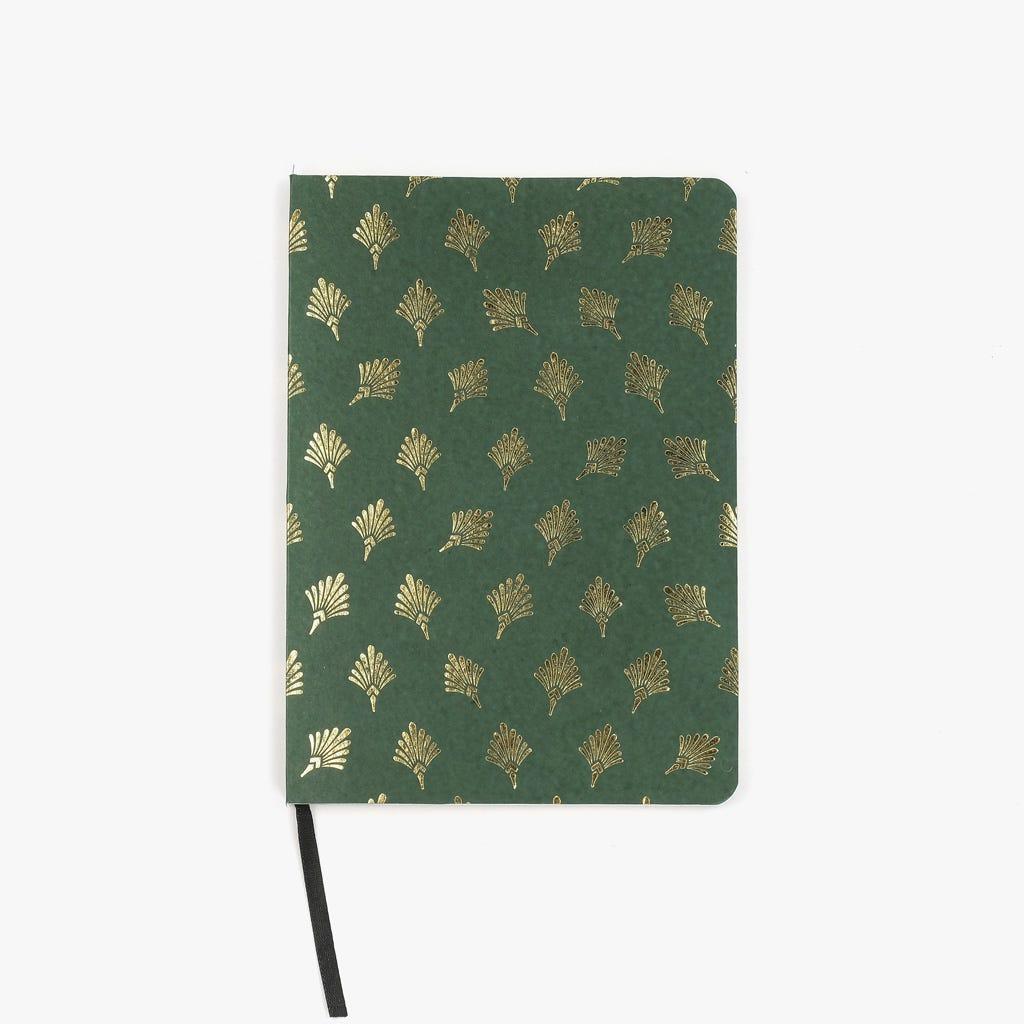 Caderno de notas Penas Verde 15x21 cm