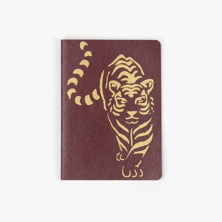 Caderno Tigre Bordô15x21 cm