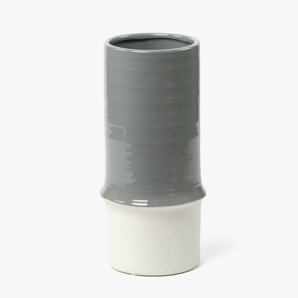 Jarra Cinza 14x14x31 cm
