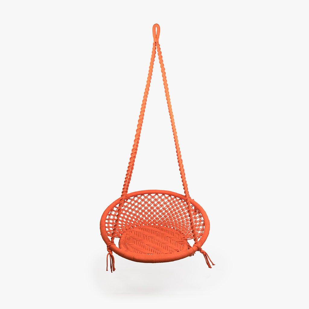 Cadeira Baloiço Macramé tijolo