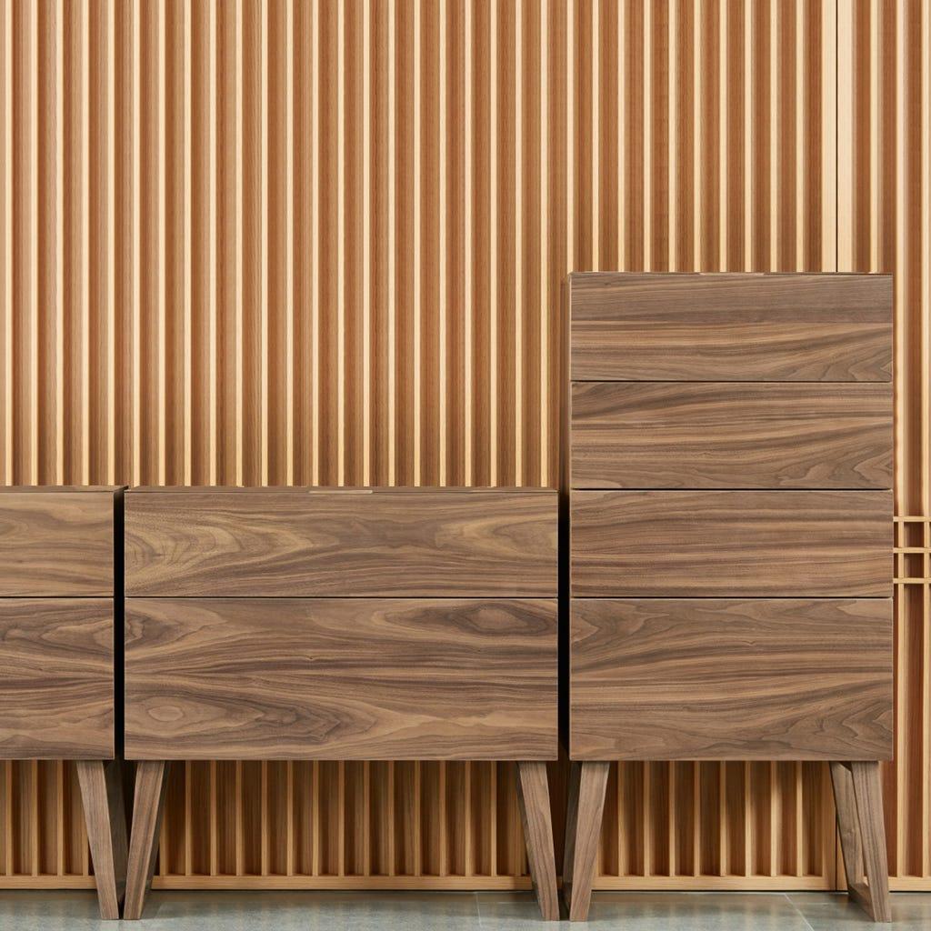 Cómoda Nara com 2 gavetas80,3x39,5x80 cm