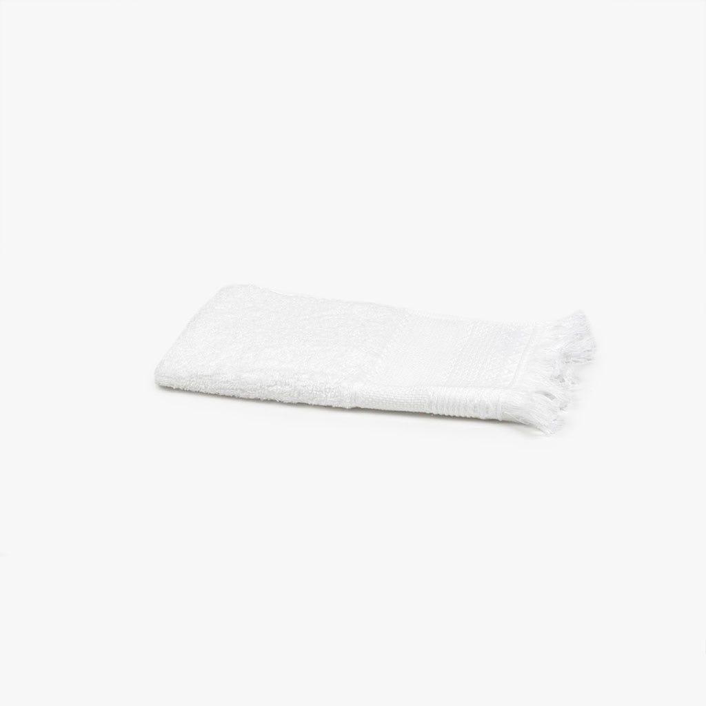 Toalha de banho com Franjas branca 30x50 cm