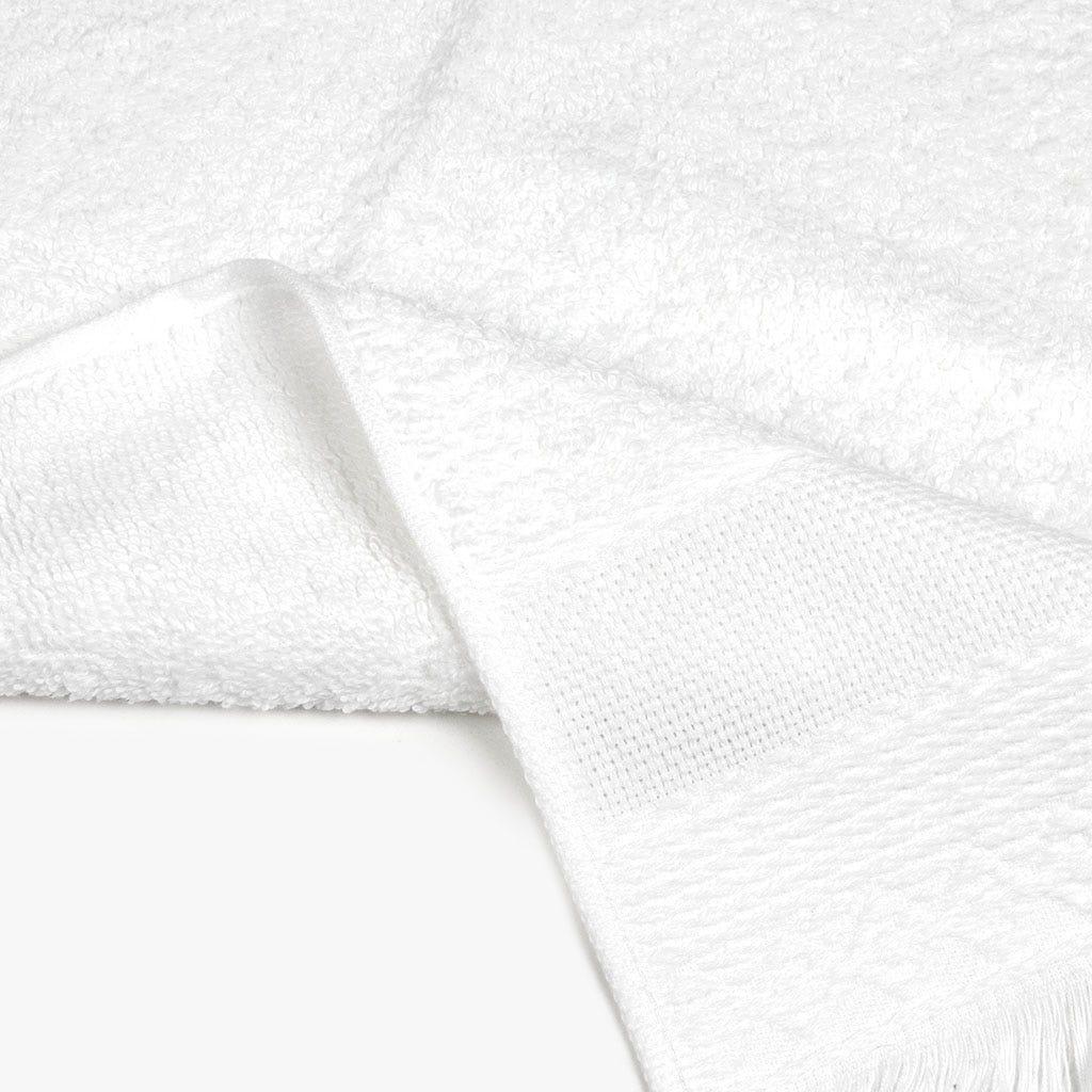 Toalha de banho com Franjas branca 70x140 cm