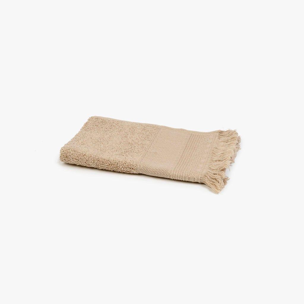 Toalha de banho com Franjas creme 30x50 cm