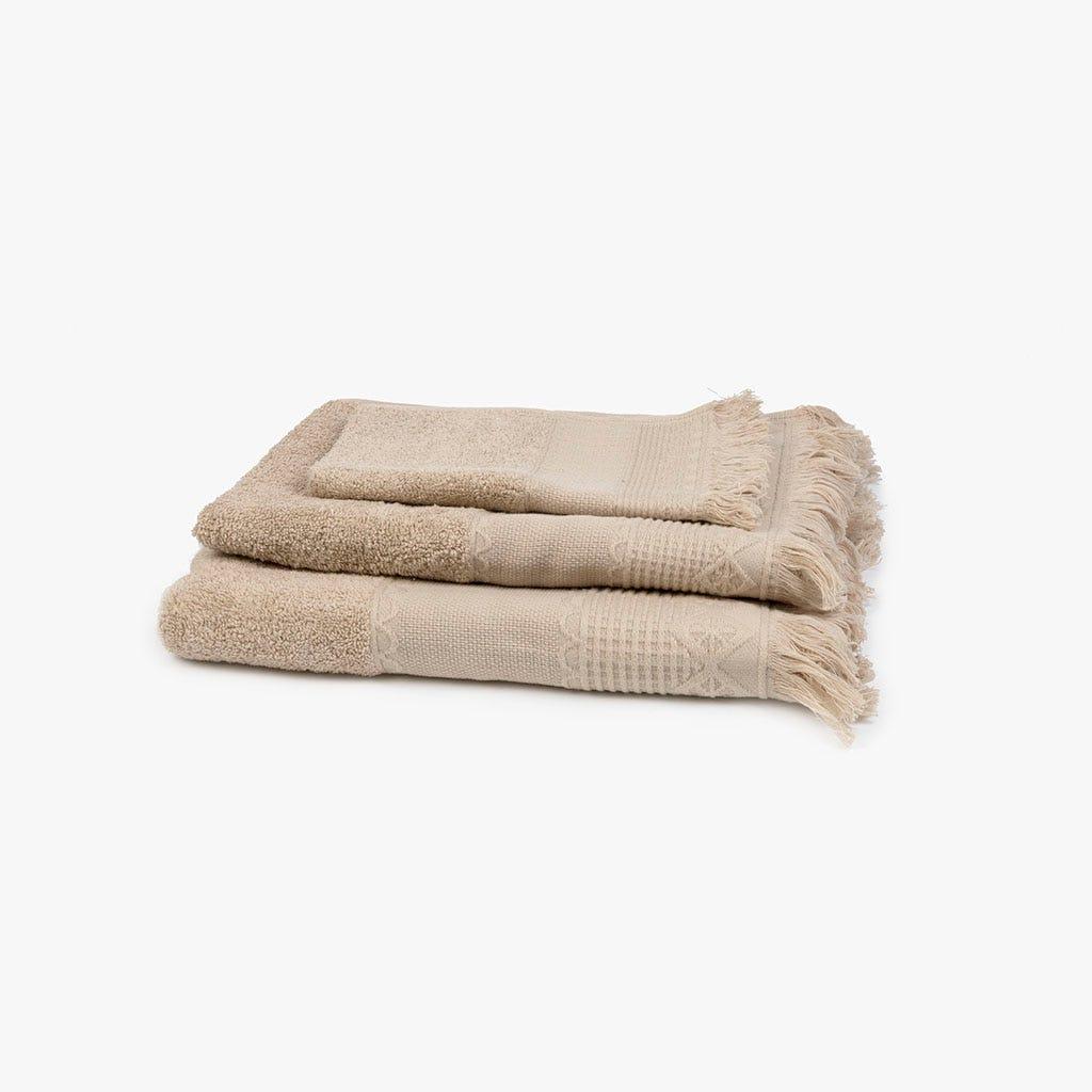 Toalha de banho com Franjas creme 70x140 cm