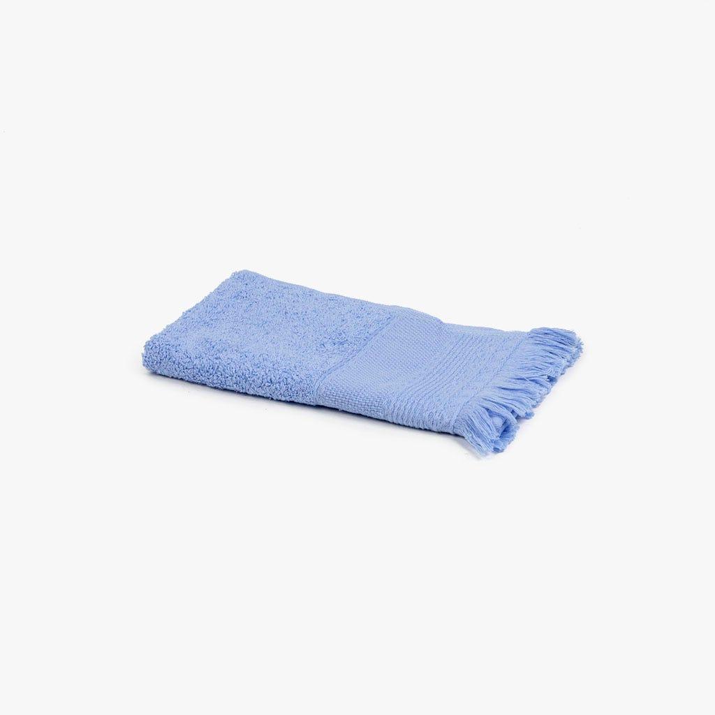 Toalha de banho com Franjas azul 30x50 cm