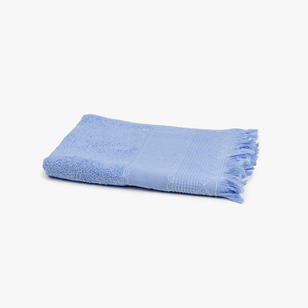 Toalha de banho com Franjas azul 50x100 cm