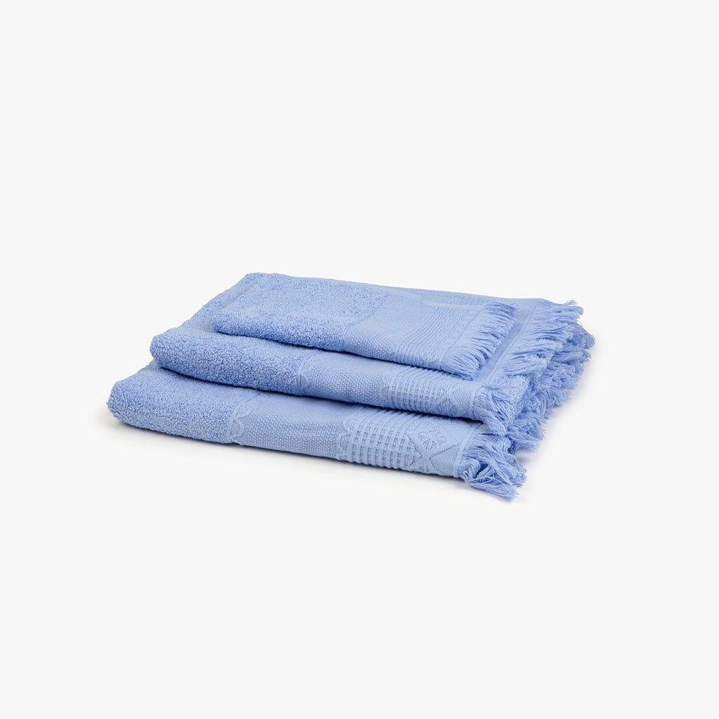 Toalha de banho com Franjas azul 70x140 cm