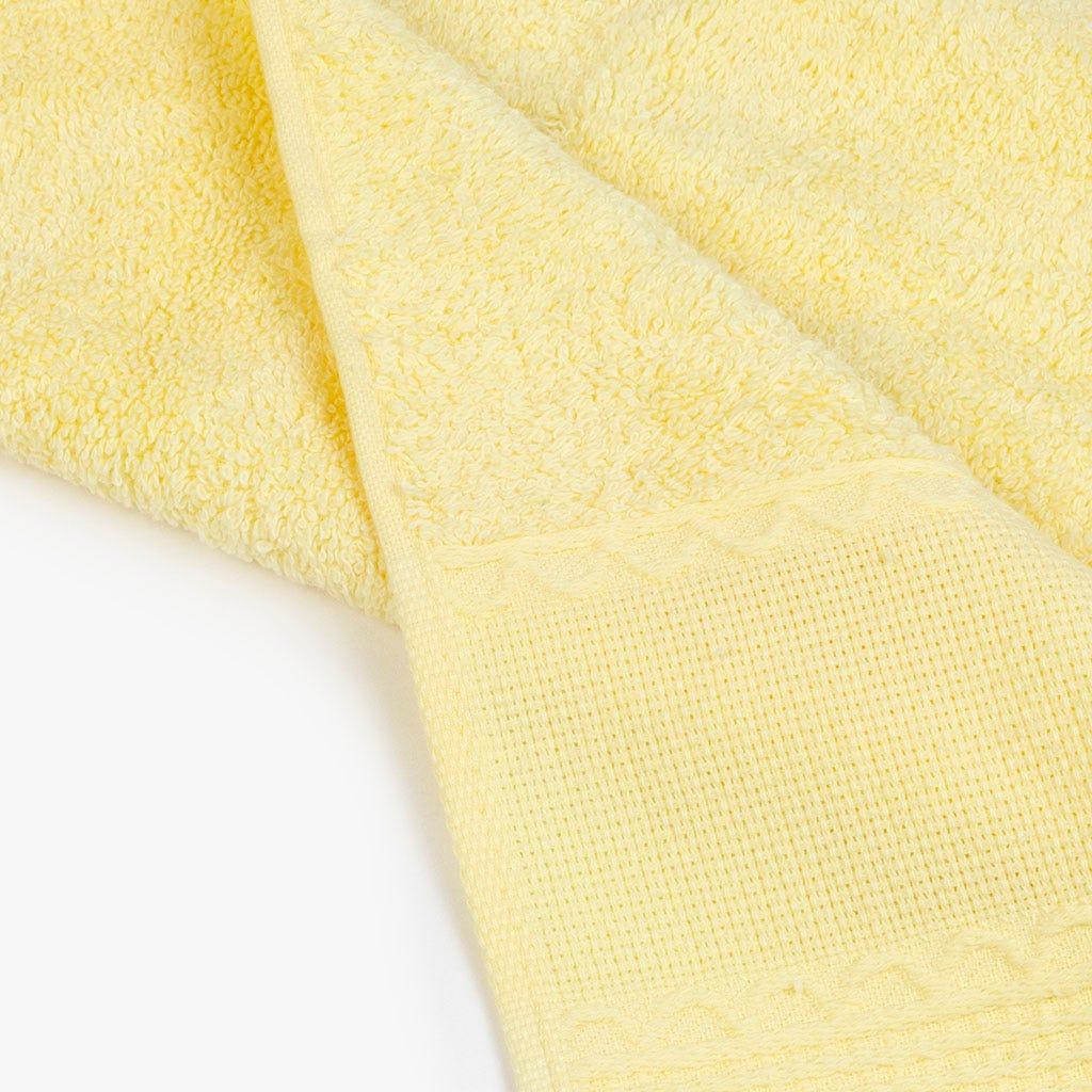 Toalha de banho com Franjas amarelo 30x50 cm