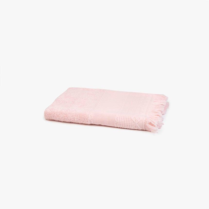 Toalha de banho com Franjas rosa 50x100 cm