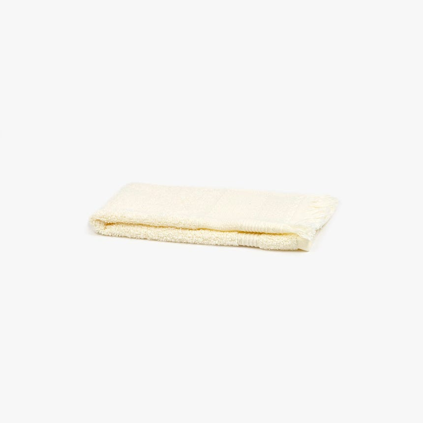 Toalha de banho com Franjas bege 30x50 cm