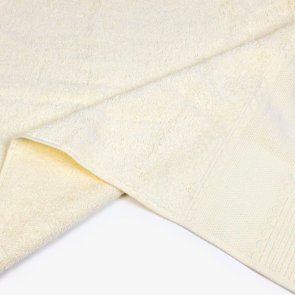 Toalha de banho com Franjas bege 50x100 cm