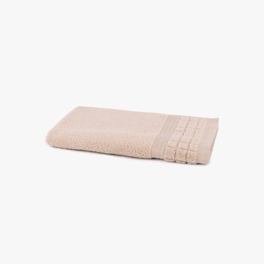 Toalha de Banho Quadrados bege 30x50 cm