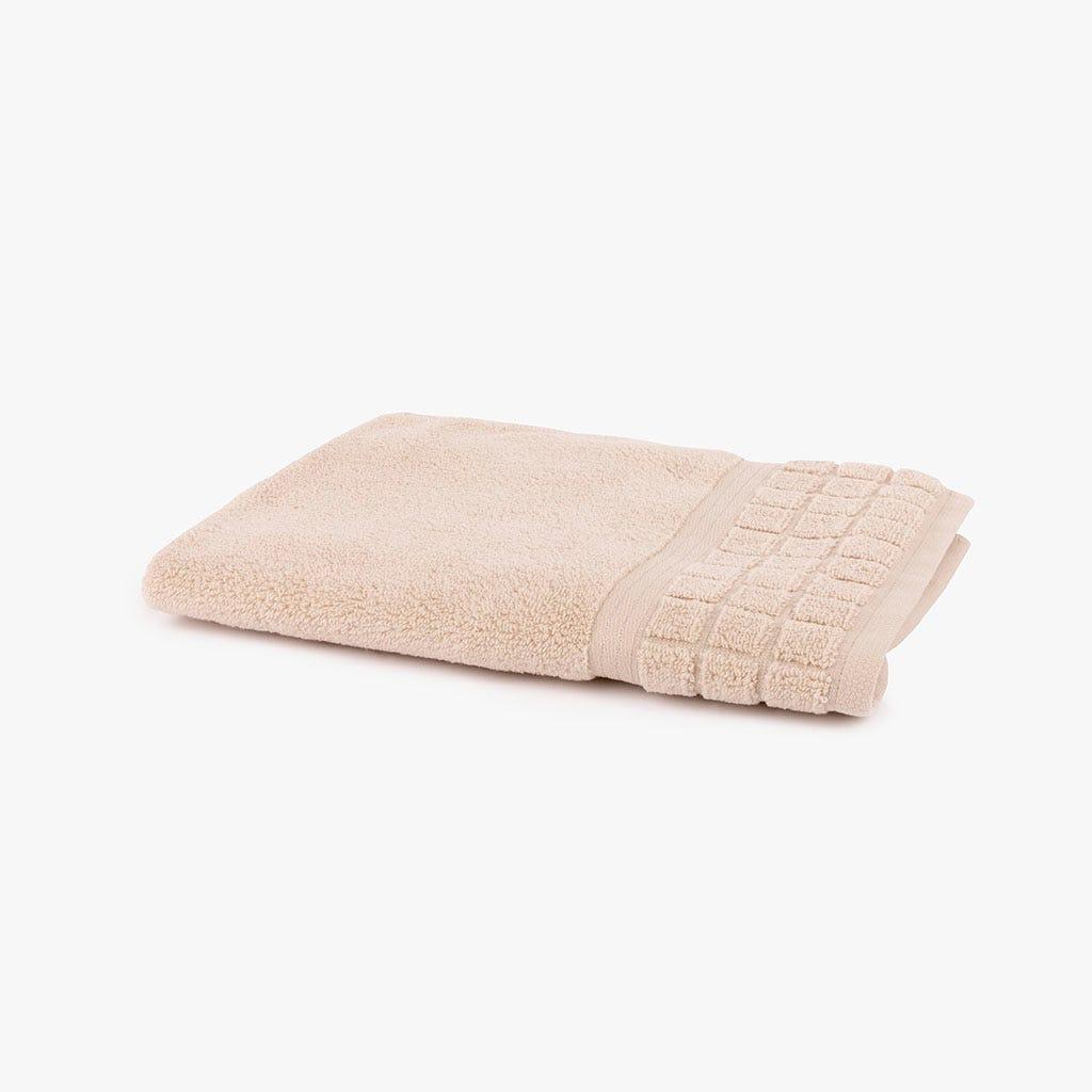Toalha de Banho Quadrados bege 50x90 cm