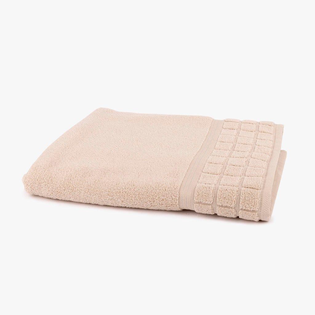 Toalha de Banho Quadrados bege 90x150 cm