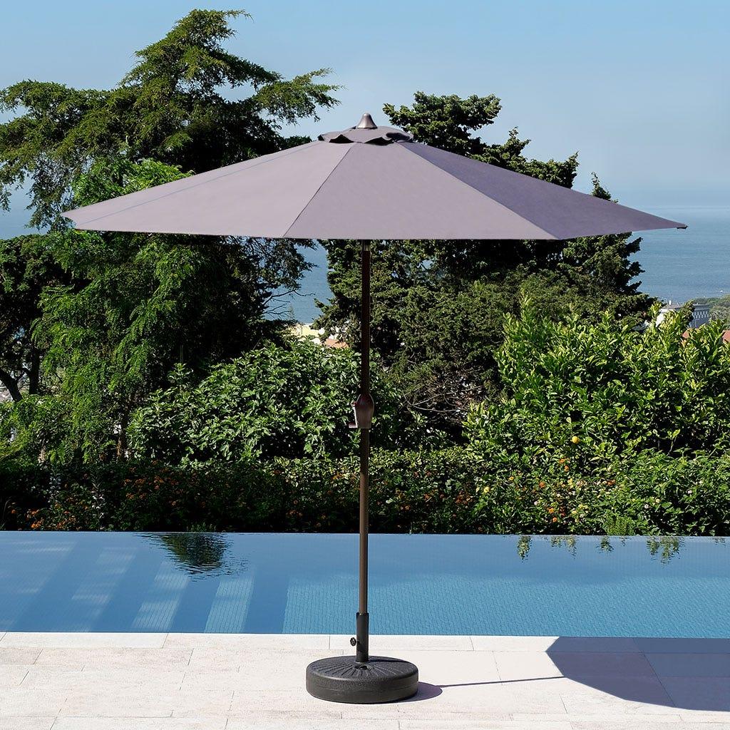 Chapéu de Sol com 8 varetas Cinza D:300 cm