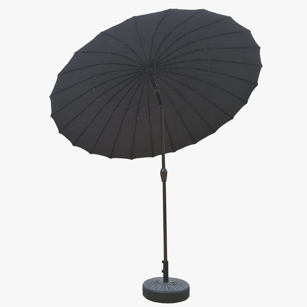 Chapeau de Soleil avec 24 barres Gris D:270 cm