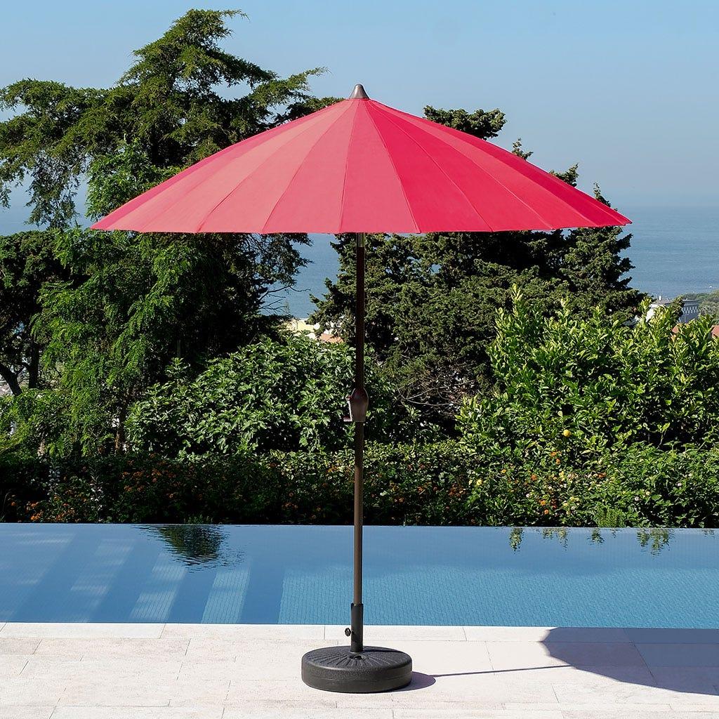 Chapéu de Sol com 24 varetas Vermelho D:270 cm