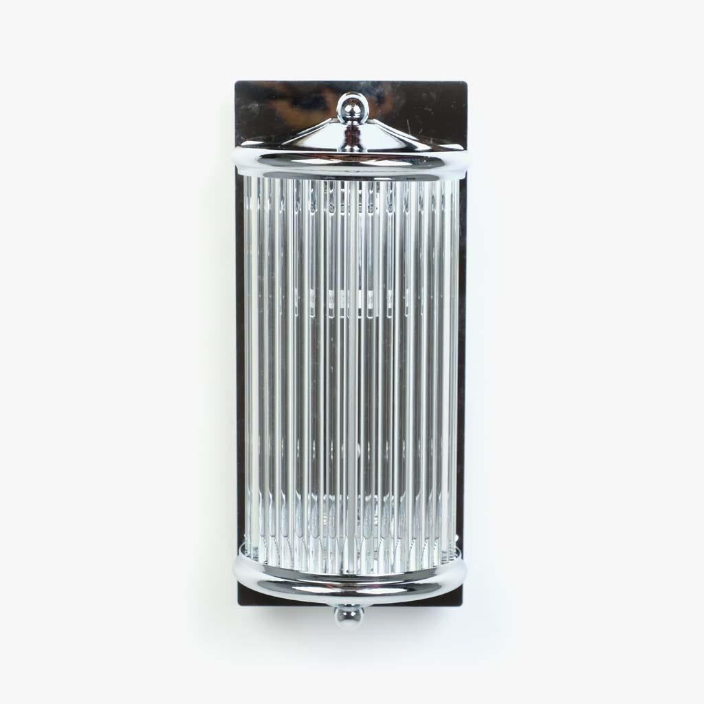 Aplique de parede Vidro prata 30 cm