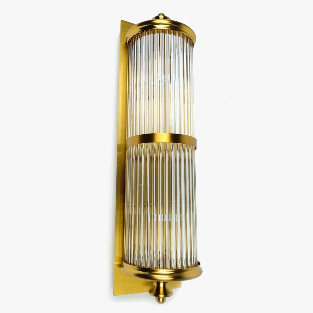 Aplique de parede Vidro ouro 52 cm