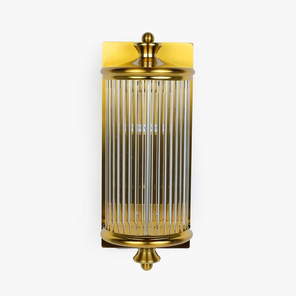 Aplique de parede Vidro ouro 29 cm