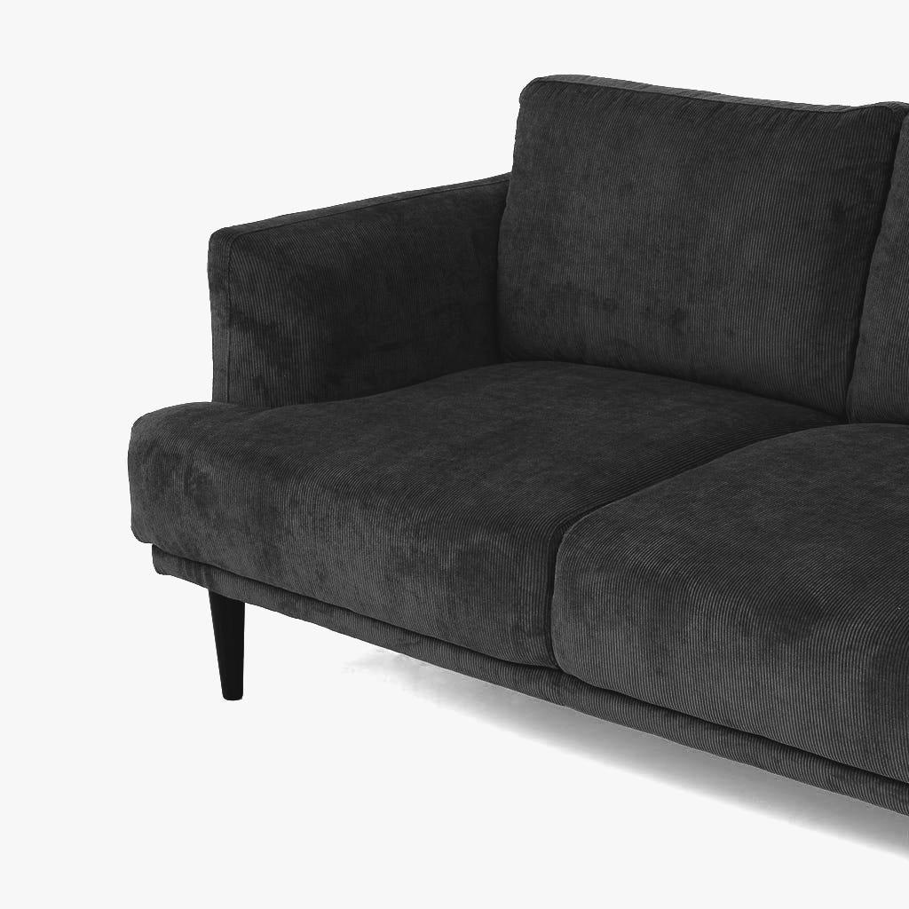 Sofá Kidman Cinzento 227x93x87 cm