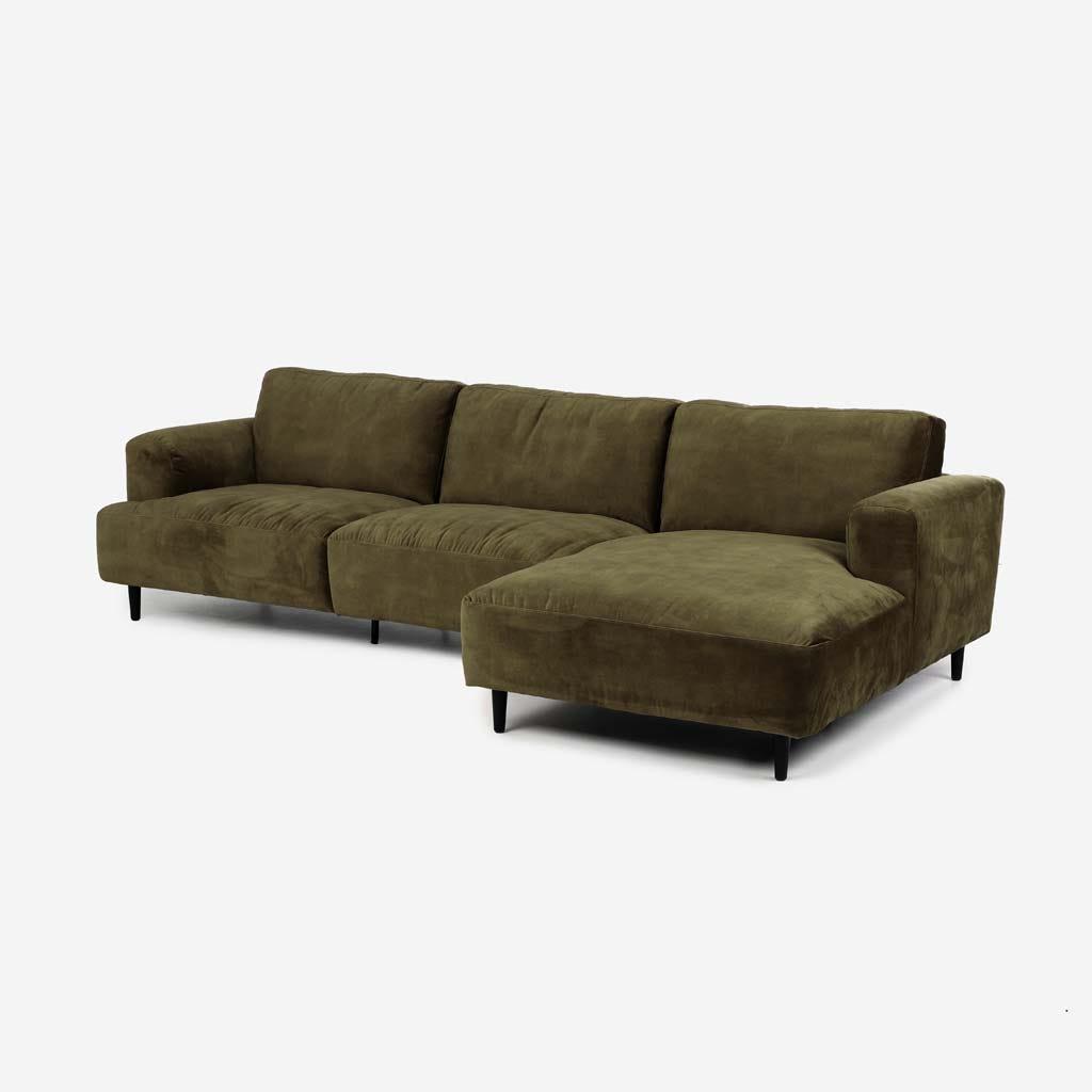 Sofá com Chaise Longue Direita Freeman Verde