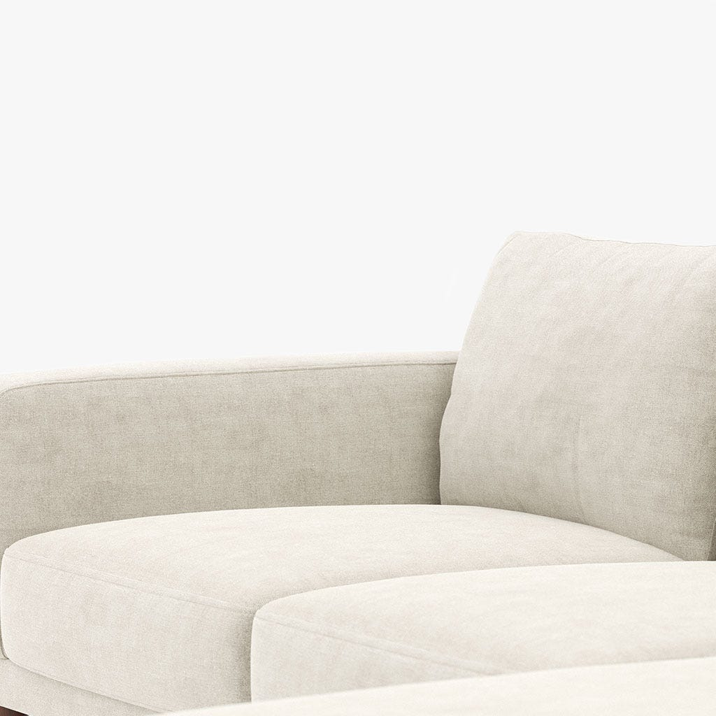 Sofá com Chaise Longue Bloom Branco 252x160x78 cm