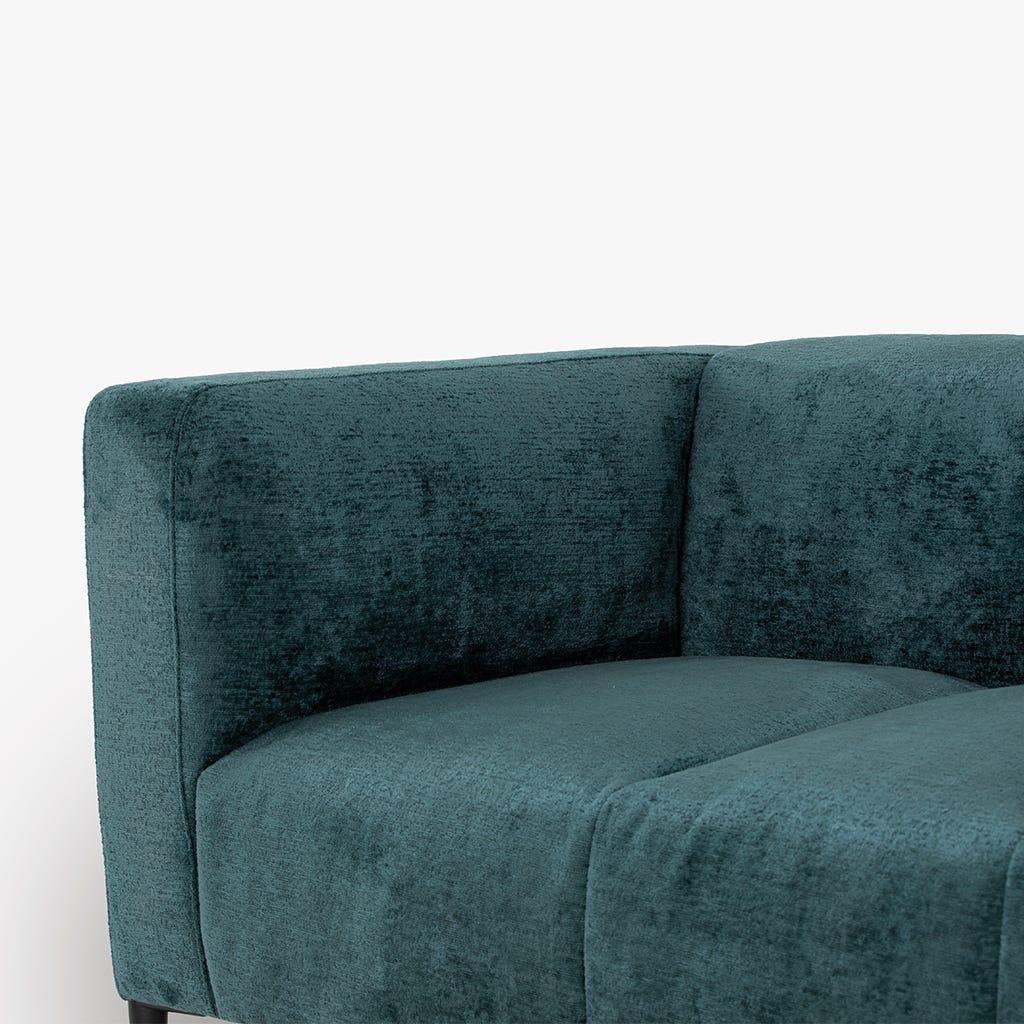 Sofá Gadot veludo Azul 231x91x74 cm