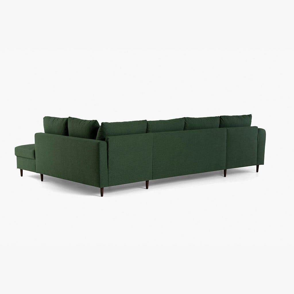 Sofá con Chaise Longue Craig Verde