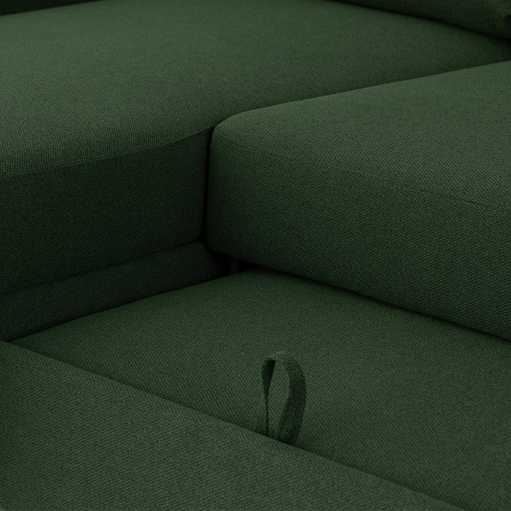 Sofá com Chaise Longue Craig Verde 332.5x208.5x93 cm