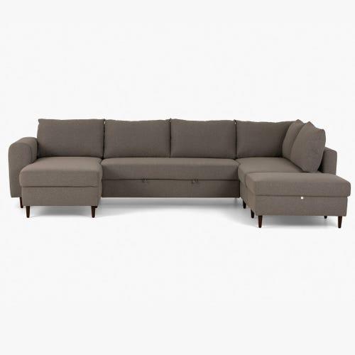 Sofá con Chaise Longue Craig Gris 332.5x208.5x93 cm