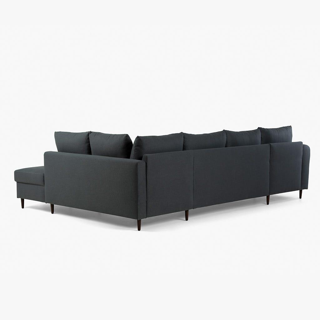 Sofá com Chaise Longue Craig Cinza Escuro 332.5x208.5x93 cm
