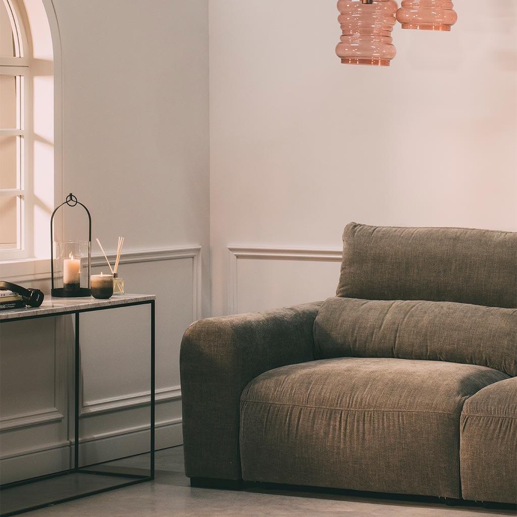 Sofá con Chaise Longue Brosnan Gris