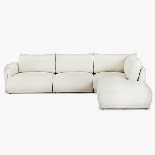 Sofá de Canto Cotillard Branco 304x285x82 cm