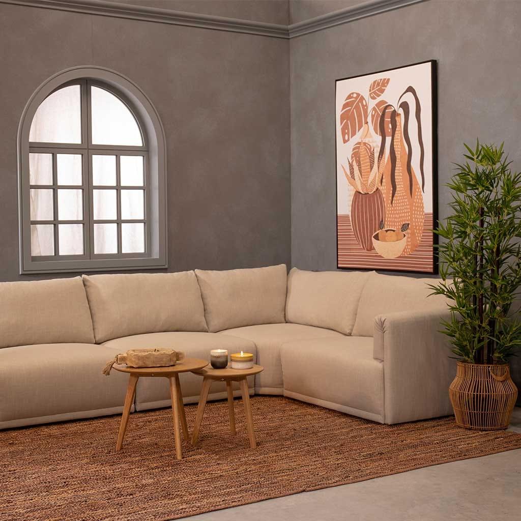 Sofá de esquina Cotillard Beige