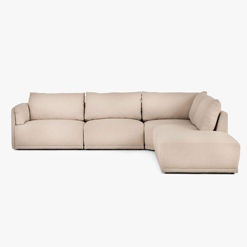Sofá de esquina Cotillard Beige 304x285x82 cm