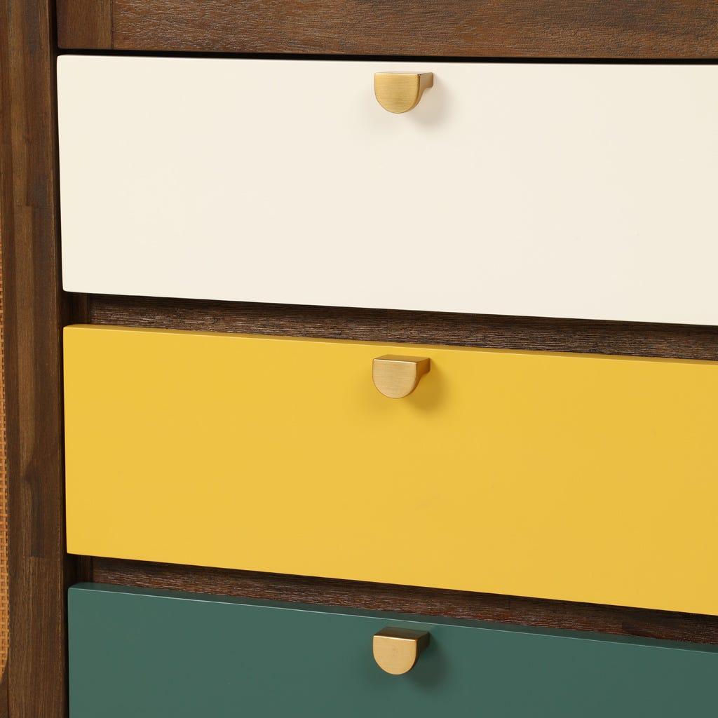 Armário Florida Amarelo e Verde 100x45x120 cm