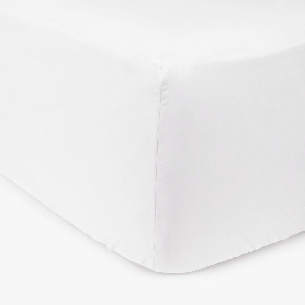 Lençol de baixo percal branco 140x200 cm