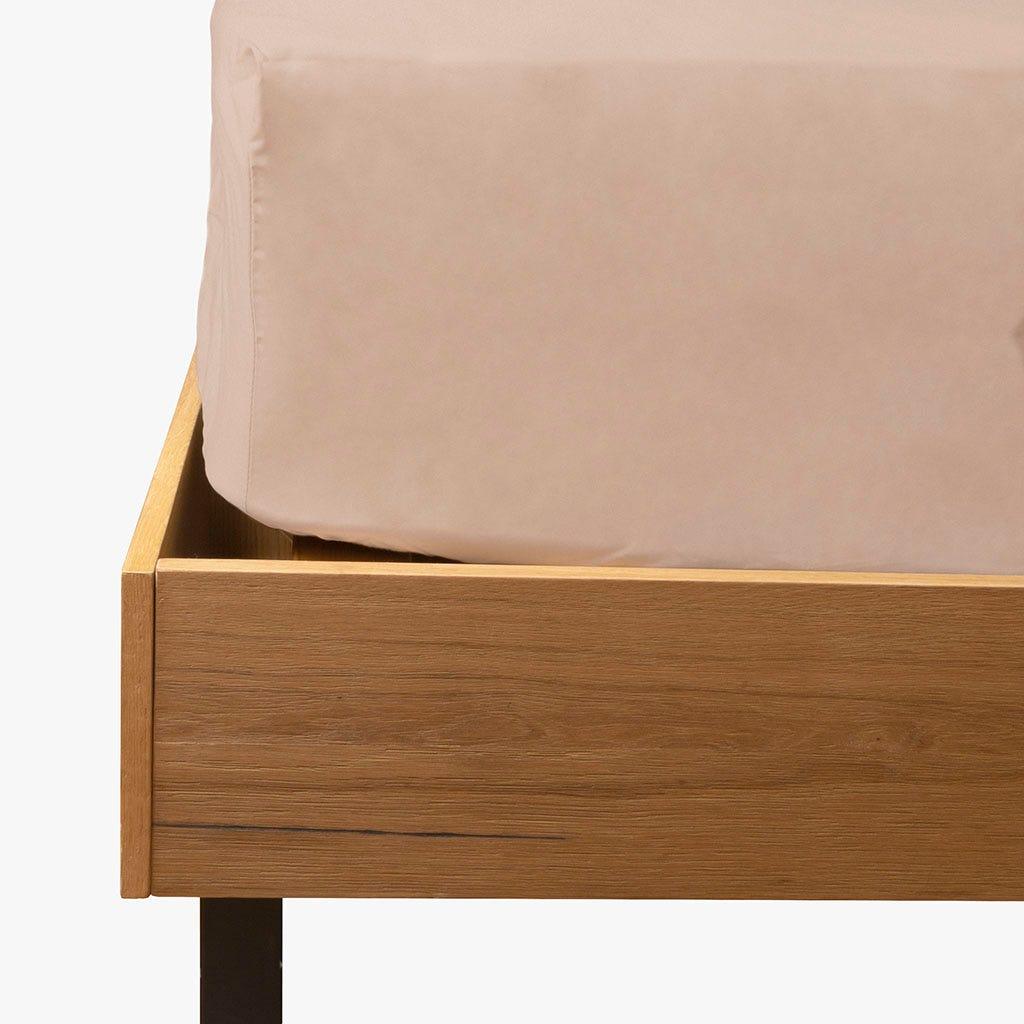 Lençol de baixo percal seixo 160x200 cm