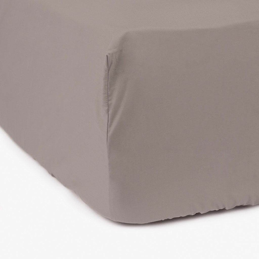 Lençol de baixo percal cinza 90x200 cm