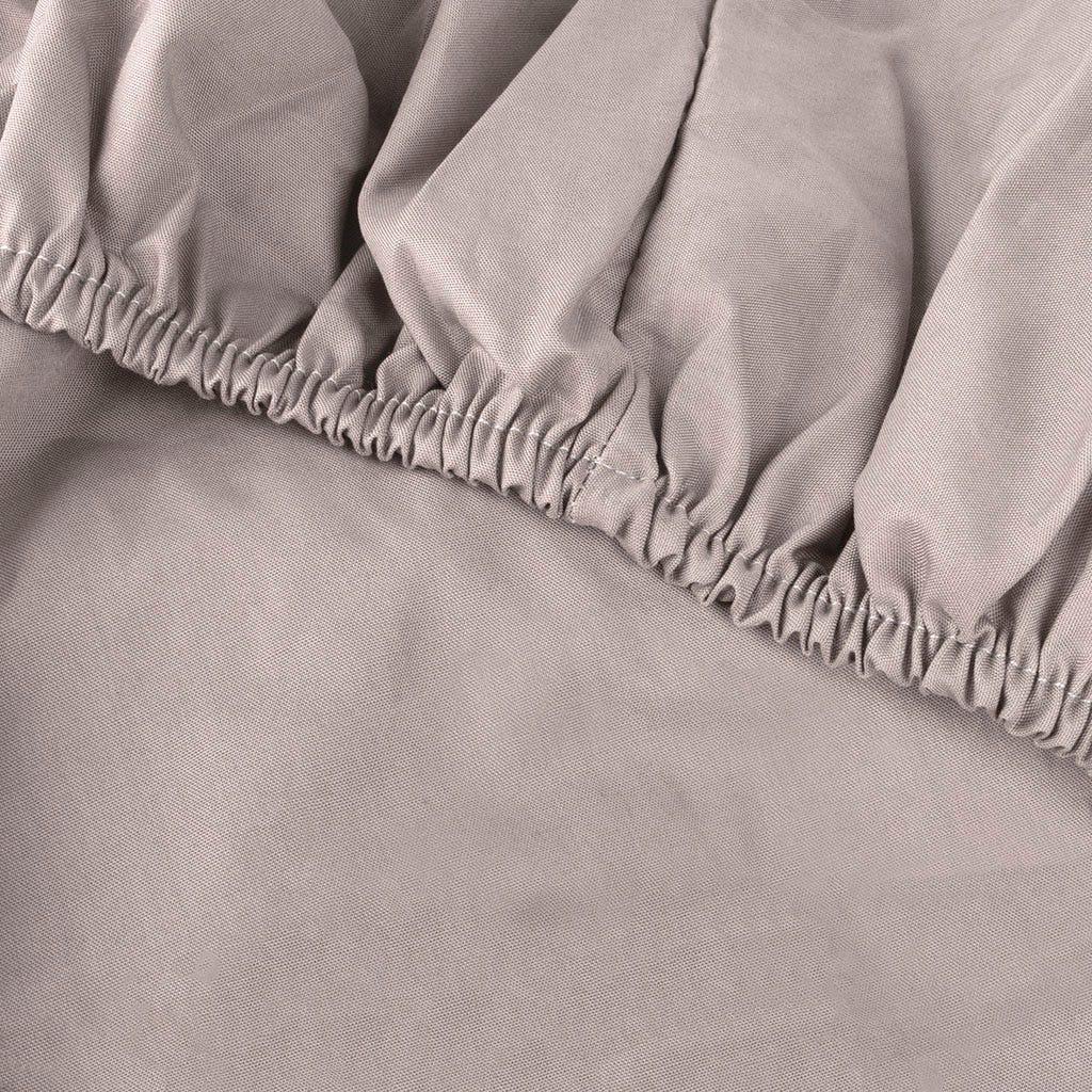 Lençol de baixo percal cinza 180x200 cm