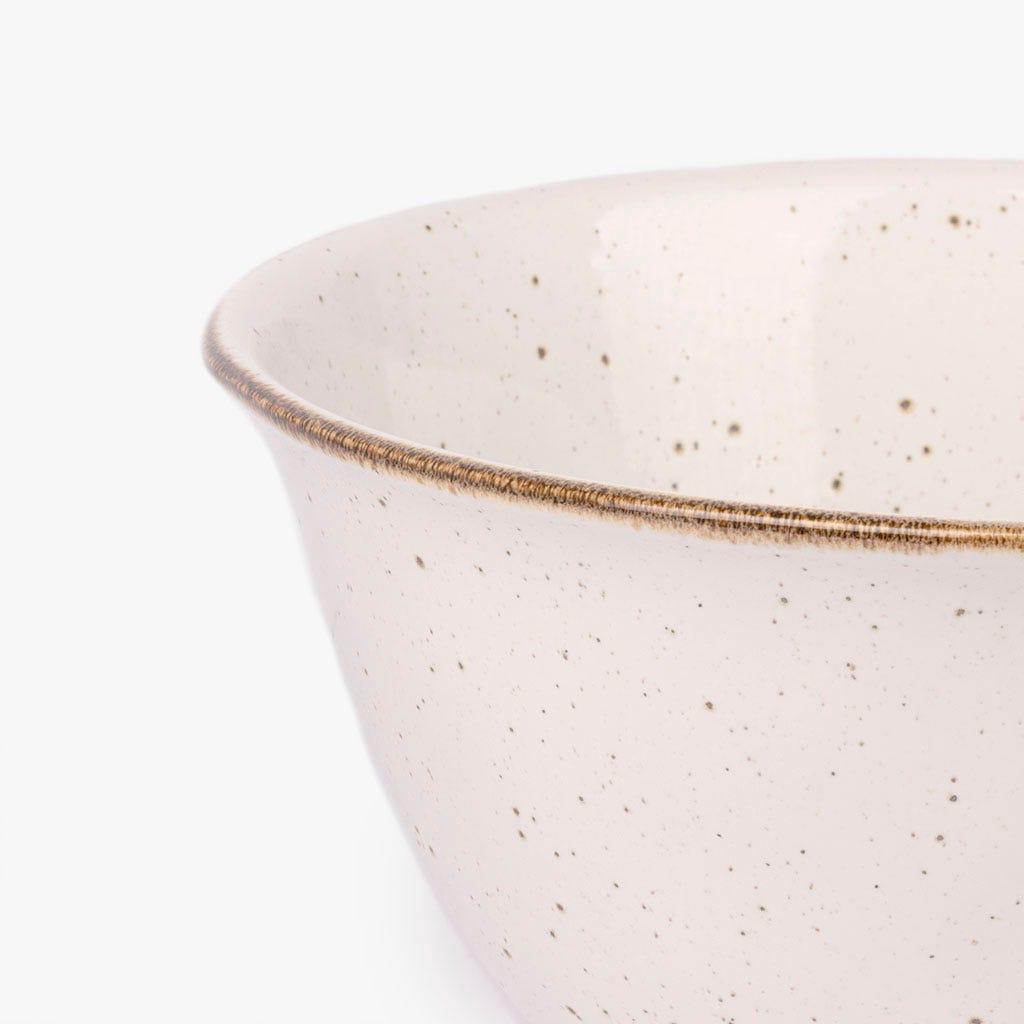 Saladeira Porto Covo grés fino branca 29 cm