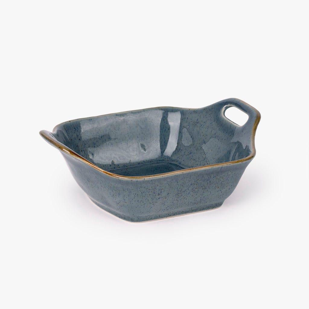 Bandeja asadora cuadrada Porto Covo Gres fino Azul 33 cm