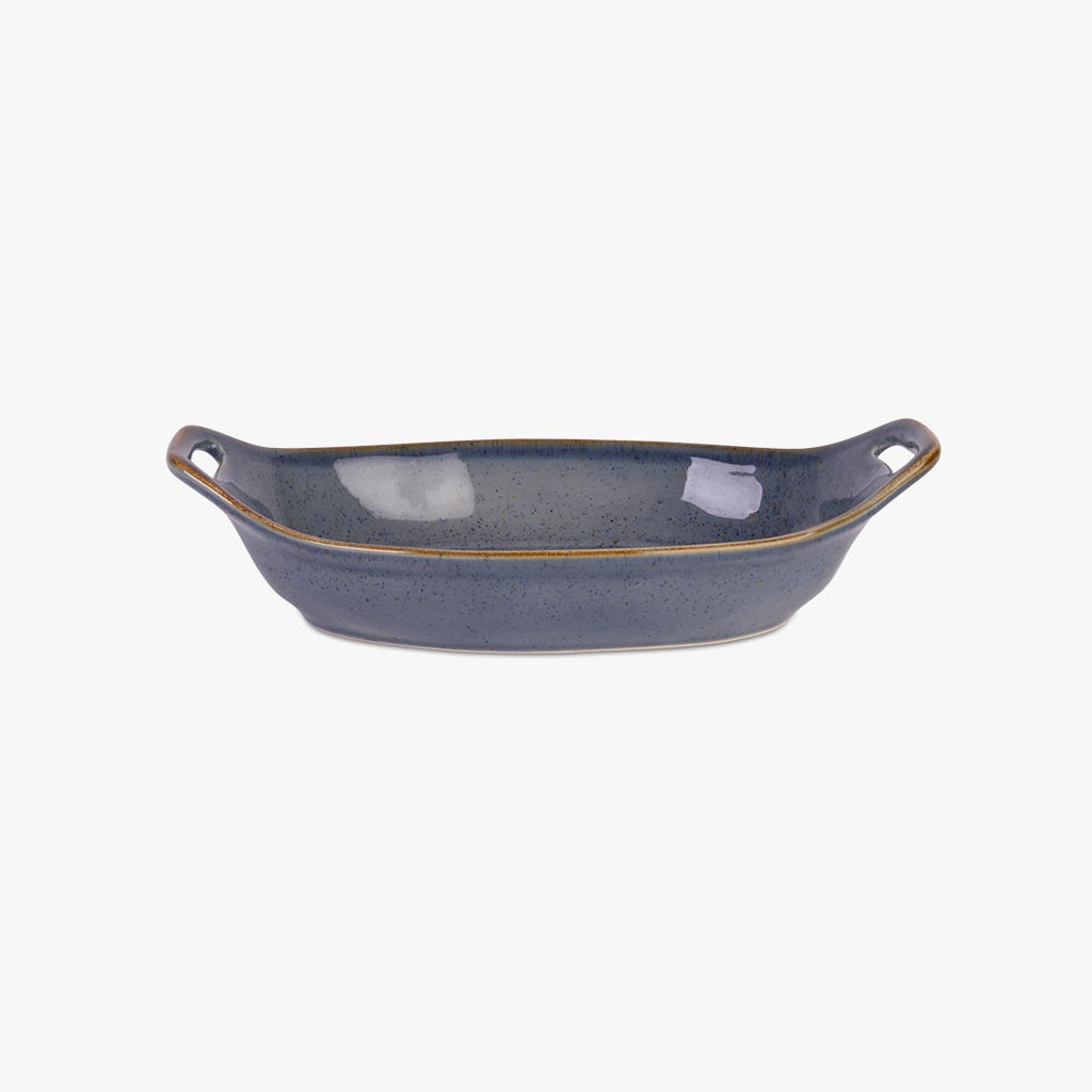 Bandeja oval asadora Porto Covo Gres fino Azul 32 cm